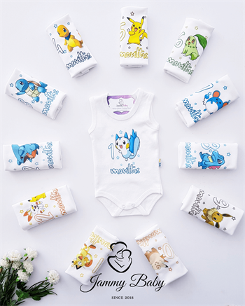 Pokemon 12 Months Top Clothing Set - ECRU