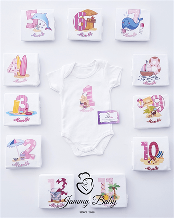 Summer 12 Months Top Clothing Set - ECRU