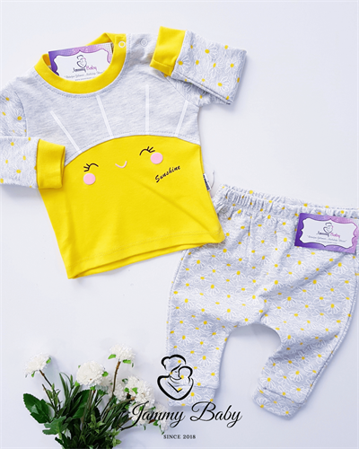 2 Piece Sun Chamomile Set - YELLOW